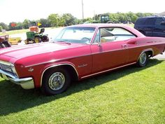 """If only this 1966 Chevy Impala 327 SS were white with a black vinyl top, it would look just like my car """"back then. 66 Impala, 1966 Chevy Impala, Old Trucks, Amazing Cars, Hot Cars, Motor Car, Cars Motorcycles, Muscle Cars, Antique Cars"""