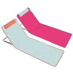 Matelas de plage rose pliable et clic clac pliant zigzag   Boutique plage