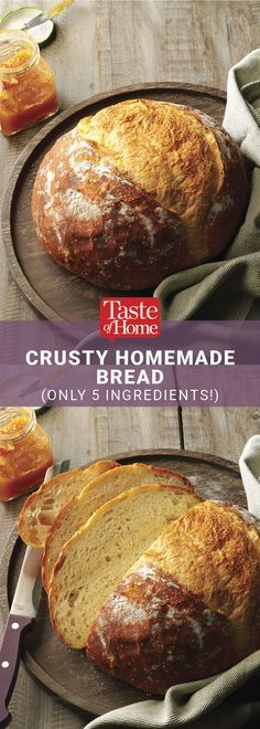 Crusted Homemade Bread Recipe from Taste of Home