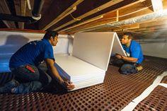 TerraBlock™ crawl space floor insulation