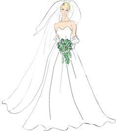 Beautiful Bride Clip Art, Wedding Clip Art, People Clip Art, Free Clipart - Dixie Allan