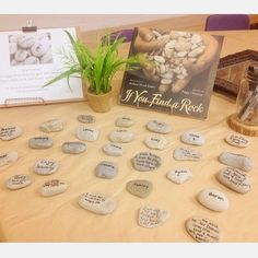 Using rocks for hopes and dreams! What a wonderful idea from Kindie Korner. l Reggio Inspired