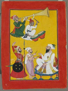Celebrations of Krishna's Birth, Folio from a Bhagavata Purana Series Master at the Court of Mankot (active ca. 1680–1730) 1700–25