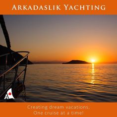 Is  there any better way to start the morning than a Mediterranean sunrise. Wishing everyone on the water fair winds  and following seas. Smooth sailing! - - Arkadaslik  Yachting  Creating dream vacations one cruise at a time! - - - #arkadaslikyacht #bluecruise #bluevoyage #boat #cruise  #cruising #dreamvacation #goodmorning  #greece #greekislands  #gulet #instatravel #mediterranean #photooftheday #sailing #sunrise #travel #travelphotography #turkey  #turquoisecoast #vacation…