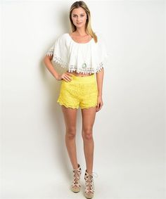 Vacay Ready Crochet Shorts via PastelBlu. Click on the image to see more!
