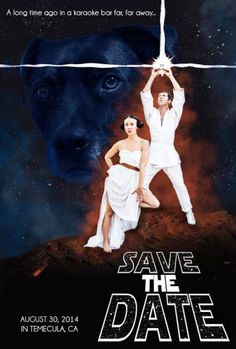 Fun, Geeky Save The Dates, based on the couple's favorite movies!