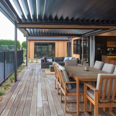 created a one of a kind outdoor living space featuring our motorised roof system.