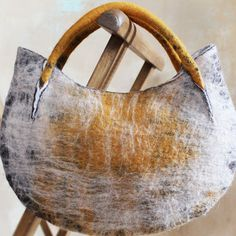 "Collection of felted handbags ""Nomad"", wool, bamboo. Shibori, Felt Purse, Art Bag, Craft Bags, Nuno Felting, Needle Felting, Handmade Felt, Felt Art, Felt Crafts"