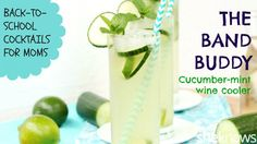 Get refreshed with this minty cucumber and lime wine cooler. #winerecipes #drinkrecipes #cocktailrecipes