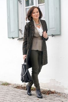 Leopard & Leather | Lady of Style. A Fashion Blog for Mature Women