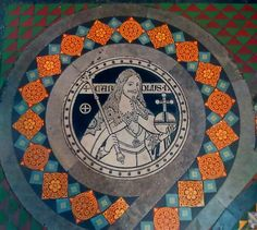 Floor roundal Charles 1st Lichfield Cathedral 19th century