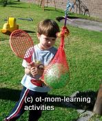 """More Hand-Eye Coordination Activities by """"OT Mom Learning Activities"""".  Pinned by SOS Inc. Resources.  Follow all our boards at http://pinterest.com/sostherapy  for therapy resources."""