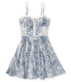 Paisley Bustier Dress from Aéropostale