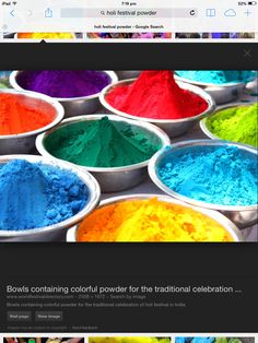 Holi festival powder