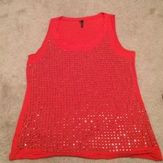 Maurice's tank Maurice's xl. Burnt orange I color, metal like rinestones. There are none missing. Maurices Tops Tank Tops