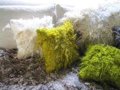 Wool felt pillows (2012) by textile artist Sonya Yong James. via the artist's site