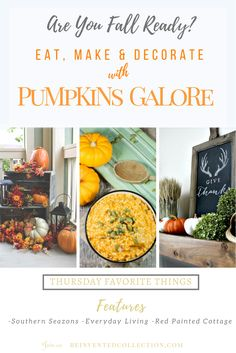 TFT Featuring Traditional Fall Decor Idea With Pumpkins of all shapes and sizes…