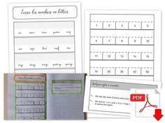 LAM ♦ Écrire les nombres en lettres Cycle 2, Bullet Journal, Maths, Writing Numbers, Learning, Satchel, Tent, Purpose