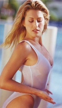 2921dd5ccf Sheer Double Dip One Piece Swimsuit. Only Sheer when wet. We have taken our
