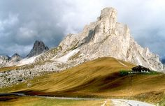 Mountain pass. Passo de Giau 2236 mtr high in the Dolomites