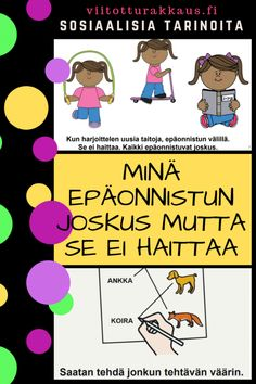 Miten hallita ärtymystään kun on epäonnistunut? Self Control, Pre School, Special Education, Disney Characters, Fictional Characters, Language, Classroom, Math, Comics