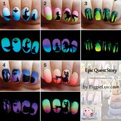 Northern lights glow in the dark nail art video tutorial dark northern lights glow in the dark nail art video tutorial dark nail art nail art videos and dark nails prinsesfo Gallery