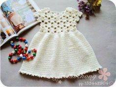 Pretta Crochet: Vestido de crochet para bebê