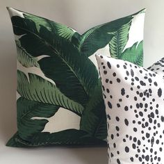 One Linen Banana Leaves Zippered Pillow Cover 24x24 26x26 Hollywood Regency INDOOR ONLY Cushion pillow cover Soft Banana Leaf Pillow-1UR6 by Pillomatic on Etsy https://www.etsy.com/au/listing/295163287/one-linen-banana-leaves-zippered-pillow