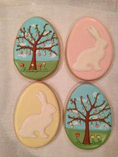 Easter Egg Cookies by Nanny & Weebs http://www.nannyandweebs.com/ via #TheCookieCutterCompany