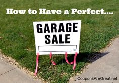 How to Have a Great Yard Sale #yardsale #tips