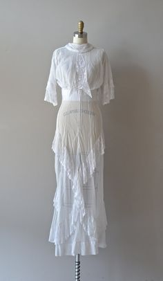 edwardian dress / 1910s wedding dress / Renton tea by DearGolden, $355.00