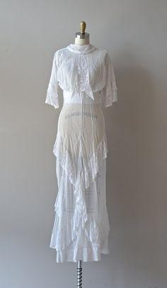 edwardian dress / 1910s wedding dress / Renton tea by DearGolden, $355.00
