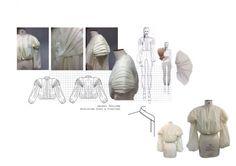 Fashion Portfolio - pleated jacket design development & fashion sketches // Kelly Wheeler