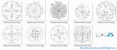 Recursos didácticos para la etapa de Educación Infantil: Mandalas de San Jorge/Sant Jordi