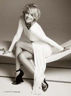 "Sharon Stones in Bathroom | It hasn't been easy,"" the actress told the magazine about keeping her ..."