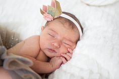 Newborn photography by Tulips and Tangerines Photography - glitter tutu, glitter crown from snuggle bugs bowtique