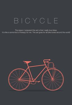 Bicycle Icon Set by Arzu Sendag, via Behance