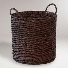 Trista Tote Basket, World Market  Need this for our absurd amount of blankets!
