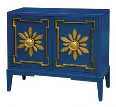 Not teal but a fun look for media cabinet.
