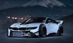 The BMW was unveiled at the Frankfurt Motor Show in 2013 and is a plug in hybrid sports car. The combines a turbo charged motor with a large electric engine and the car has some impressive performance figures. Bmw I8, Bmw Iphone Wallpaper, Bmw Wallpapers, Hd Wallpaper, Desktop Backgrounds, Hd Desktop, Bmw Autos, Carros Bmw, Super Pictures