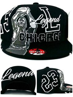 4f4c2211a2bdb9 Chicago New Legend Greatest 23 MJ Jordan Bulls Alternate Colors Black White Era  Snapback Hat