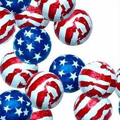 Patriotic Milk Chocolate Balls