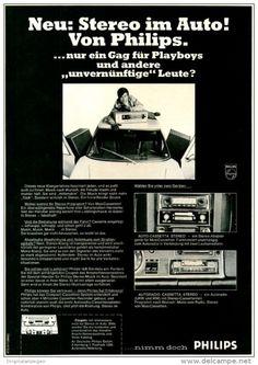 Original-Werbung/ Anzeige 1969 - PHILIPS AUTORADIO MIT STEREO - CASSETTENTEIL - ca. 180 x 240 mm
