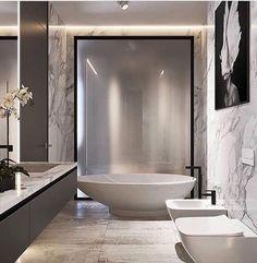 Dormir sonhando com essa sala de banho que é um arraso.
