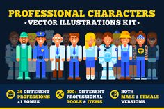 Professional Characters Kit | 30%OFF by JulyPluto on Creative Market