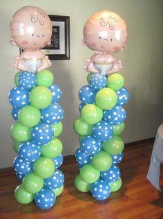 Baby shower balloons Www.bogeysbouncers.com
