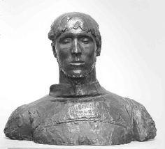 'Self-portrait', 1911 – Rik Wouters | Bust, bronze | Koninklijke Musea voor Schone Kunsten van België.