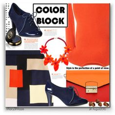 Color Block Orange and Blue