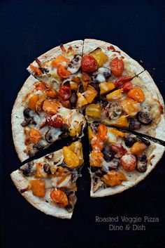 Roasted Veggie Pizza - a pizza so full of flavor, you won't believe how good it is!