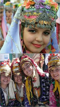 Turkish Culture Ethnic Diversity, Arab Women, Folk Dance, Ethnic Dress, World Pictures, Arabian Nights, Ethnic Fashion, People Around The World, Traditional Dresses